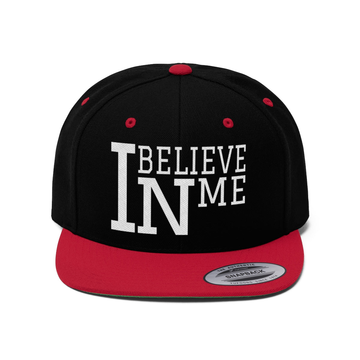 """I Believe In Me"" Unisex Flat Bill Hat"