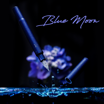 しずくペン</br>Blue Moon Fountain Pen - Wancher ワンチャー