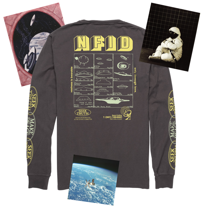 Truth Seeker<br> NFID Long Sleeve Pocket Shirt<br> Gunmetal