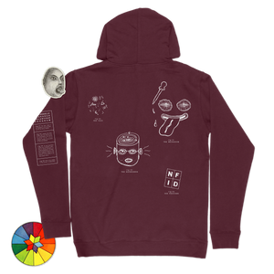 Psychedelic Research Program<br> Hooded Sweatshirt<br> Maroon