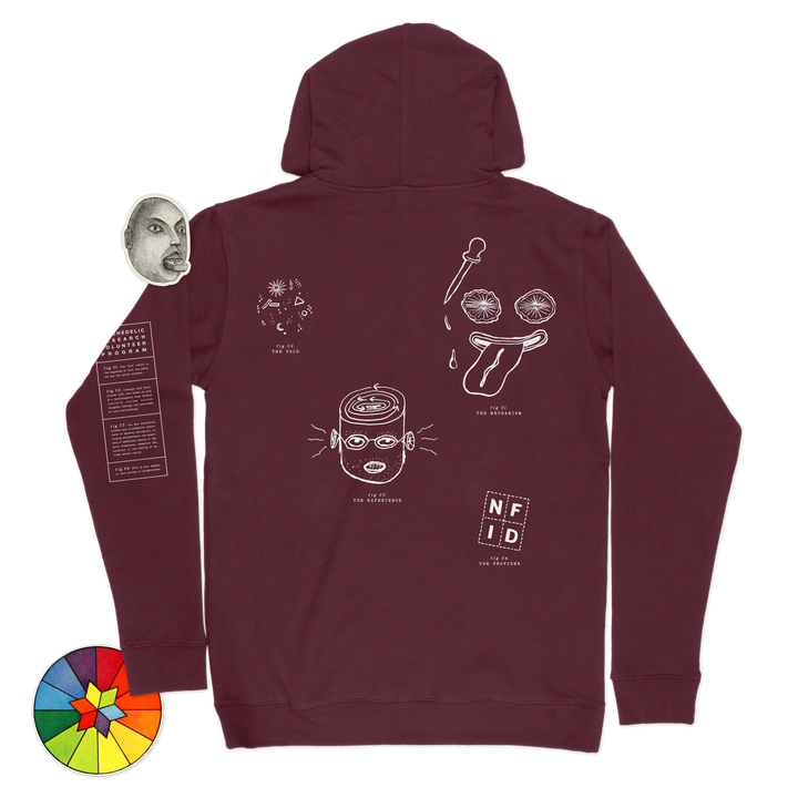 Psychedelic Research Program<br> NFID Hooded Sweatshirt<br> Maroon