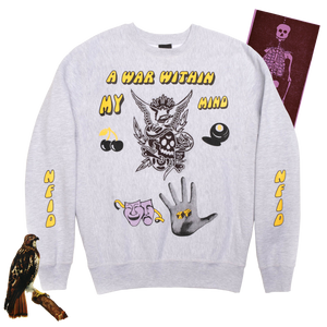 Mind War<br> Crewneck Sweatshirt<br> Heather Gray