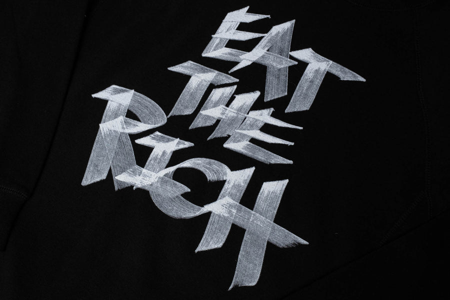 Eat the rich limited-edition hand-lettered crewneck sweatshirt.