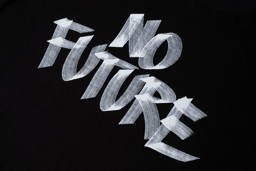 No Future limited-edition hand-lettered t-shirt.