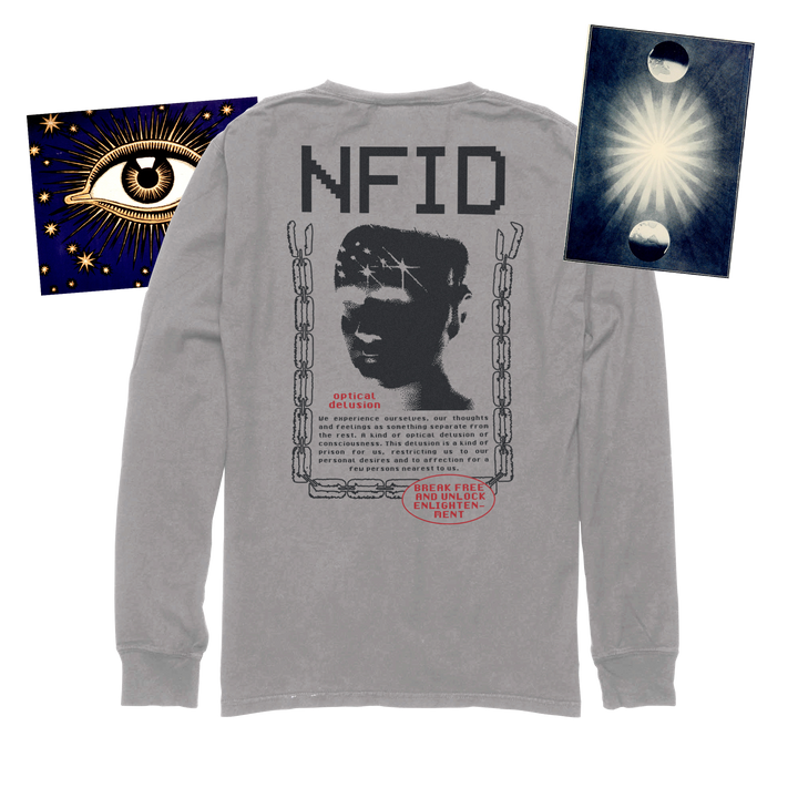 Optical Delusion<br> NFID Long Sleeve Shirt<br> Nickel