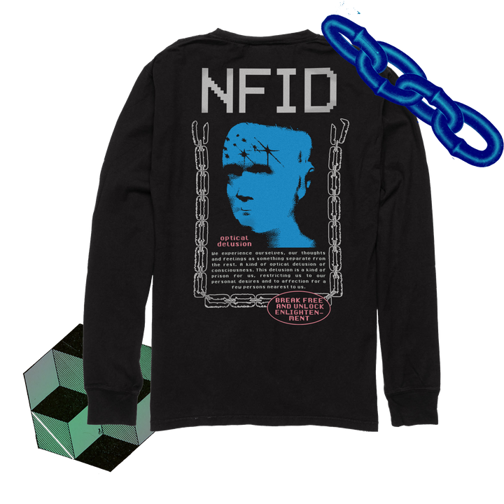 Optical Delusion<br> NFID Long Sleeve Shirt<br> Black