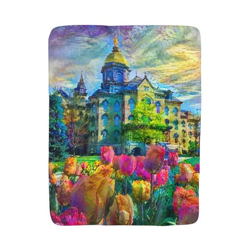 Tulips and the Dome (Sherpa/Fleece Blanket)