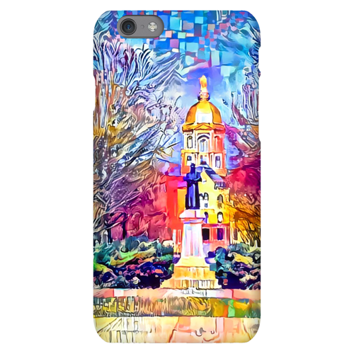 Statue of Father Sorin at Notre Dame (Phone Cases)