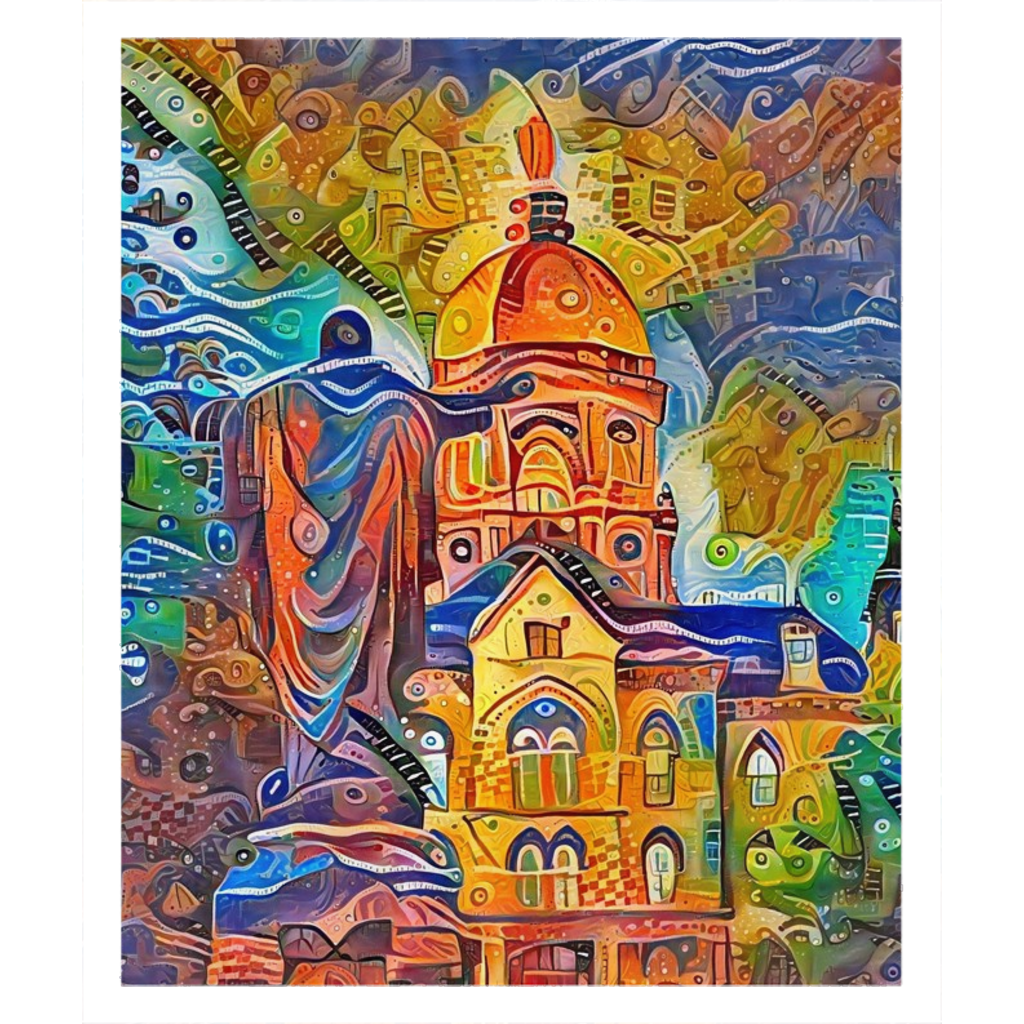 Sacred Heart and the Dome (Sherpa/Fleece Blanket)