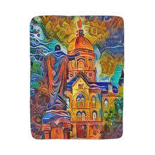Load image into Gallery viewer, Sacred Heart and the Dome (Sherpa/Fleece Blanket)