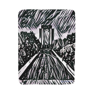 Hesburgh Library (Sherpa/Fleece) Blanket