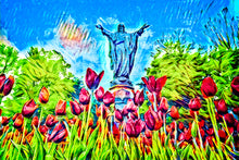 Load image into Gallery viewer, Statue of the Sacred Heart (Archival Print)