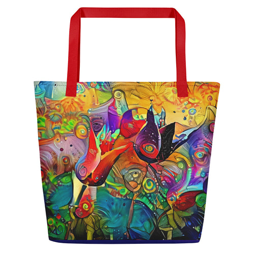 Abstract Tulips (Shoulder Bag)