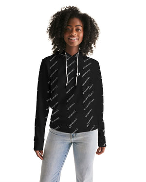 Renaissance Apparel Black and White Patterned Designer Women's Hoodie
