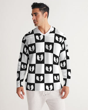 Renaissance Apparel Razah Chessboard Men's Long Sleeve Sports Jersey