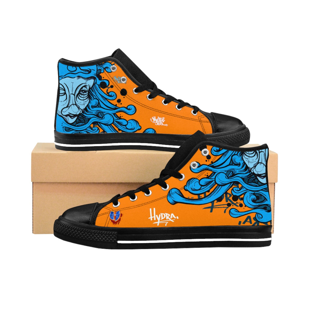 HRMI Orange Hydra Limited Edition Men's High-top Sneakers HellRazah Music Inc. - HeavenRazah