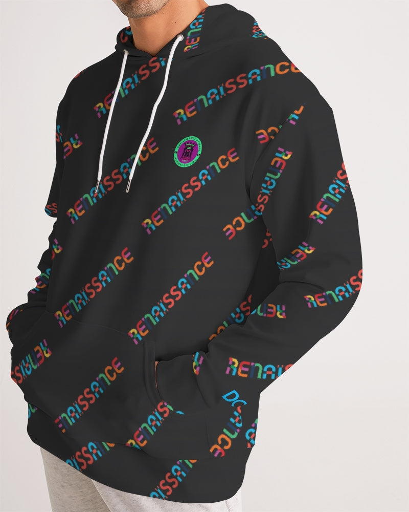 Renaissance Apparel Colorful Text Designer Men's Hoodie