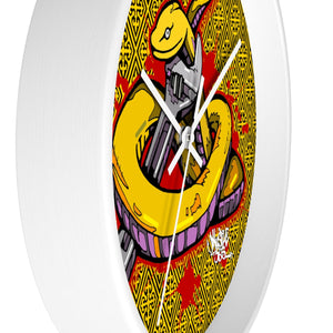 Official Hell Razah Music Inc Snakes Get Wrenched Designer Wall Clock Graphics by iHustle365_