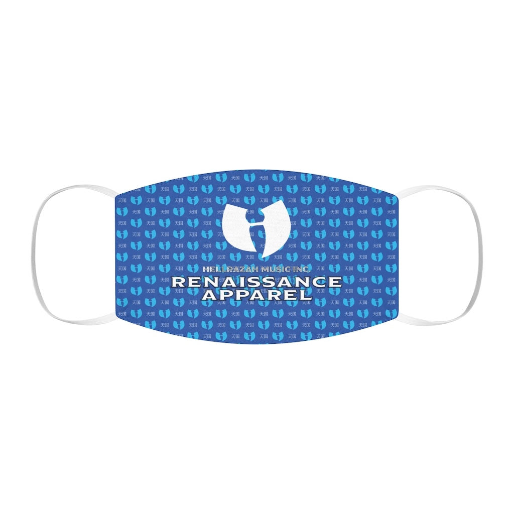 Renaissance Apparel Blue Snug-Fit Polyester Face Mask