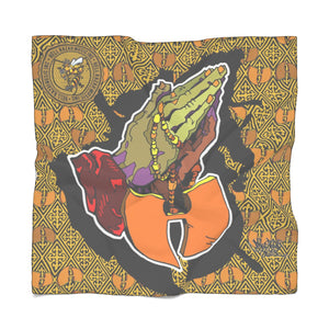 Official Hell Razah Music Inc Praying Hands Emblem Designer Poly Scarf Art by iHustle365_