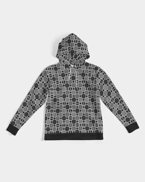 HRMI Gray Patterned Men's Hoodie
