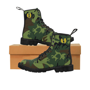Army Camouflage Men's Canvas Boots