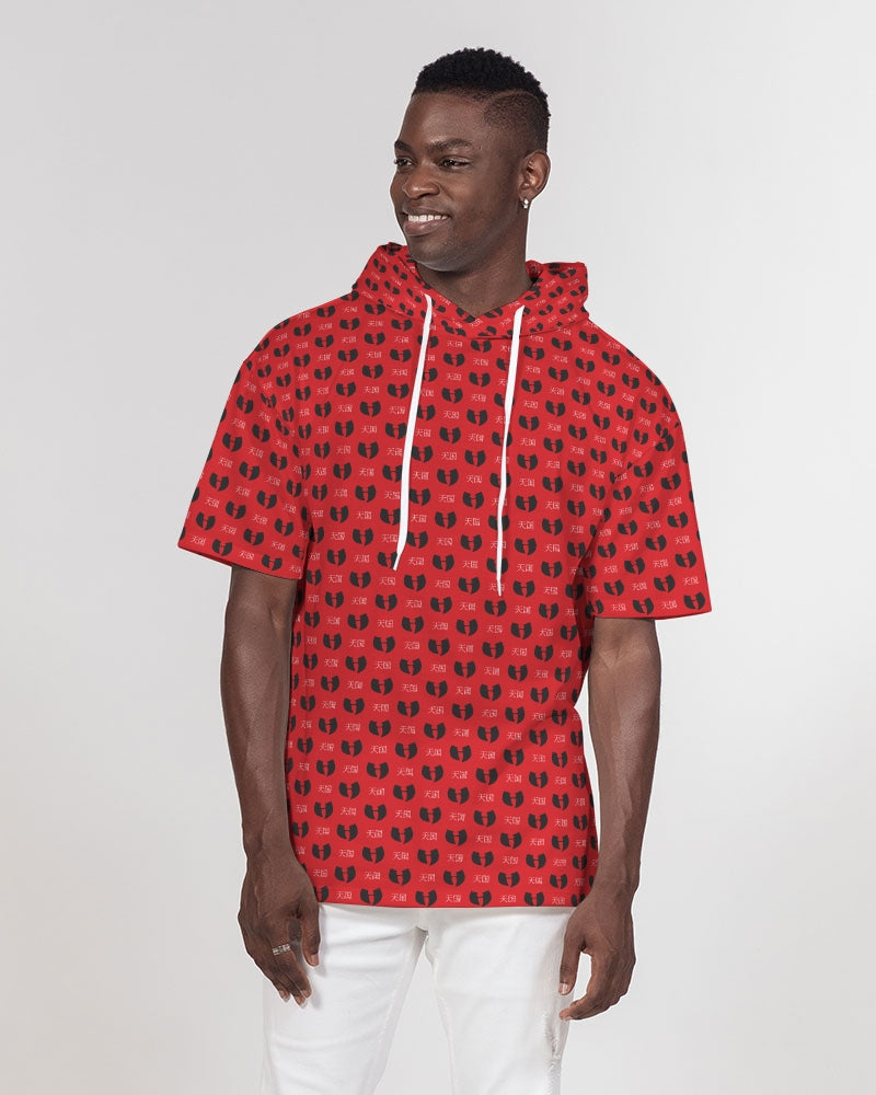 Red Razah Samurai Men's Premium Heavyweight Short Sleeve Hoodie