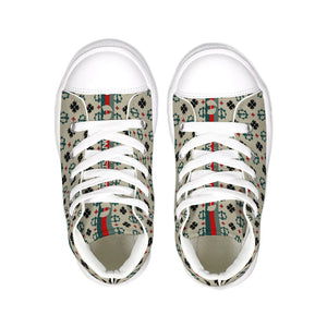 Youth Size Razah Renaissance Apparel Executive Designer Print Hightop Canvas Shoes