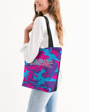 Limited Edition Grape Camouflage Canvas Zip Tote