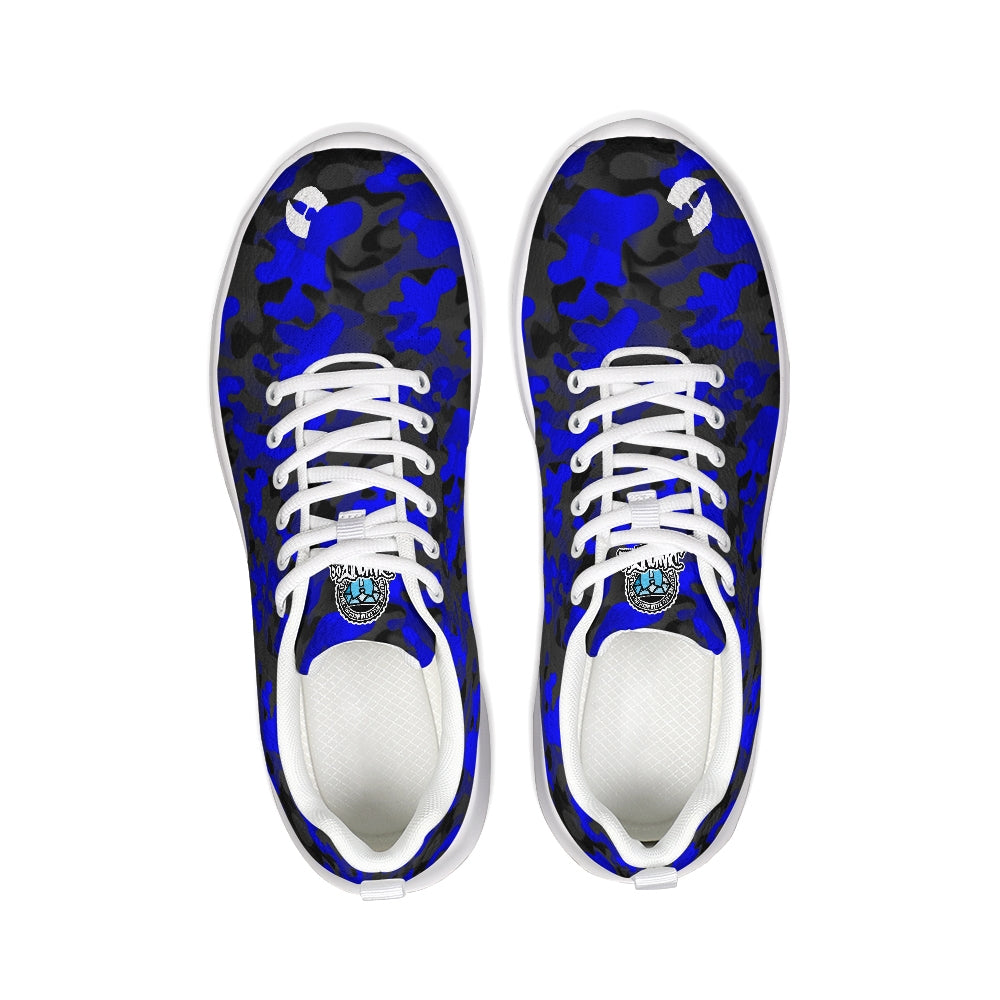 HRMI Logo Blue Camo Designer Athletic Shoes HellRazah Music Inc - HeavenRazah Sneakers