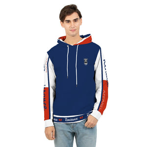 RAZAH RENAISSANCE RED WHITE BLUE DESIGNER Men's Hoodie