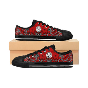 Ghetto Gov't Officialz Red Bandana Logo Shoes Heaven Razah Designer Kicks Men's Sneakers Hell Razah