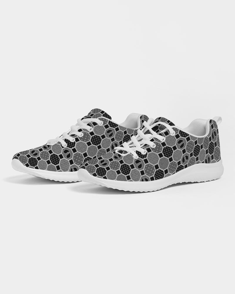 HRMI Gray Patterned Men's Athletic Shoe