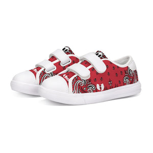 HeavenRazah Red Bandana Logo Official HellRazah Music Inc. Kids Velcro Sneaker