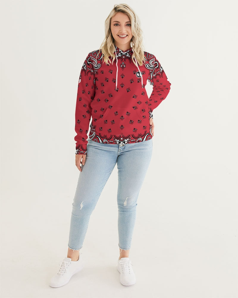 HRMI HellRazah Music Inc Logo Red Bandana Women's Hoodie - Hooded Jacket Official HeavenRazah Merch