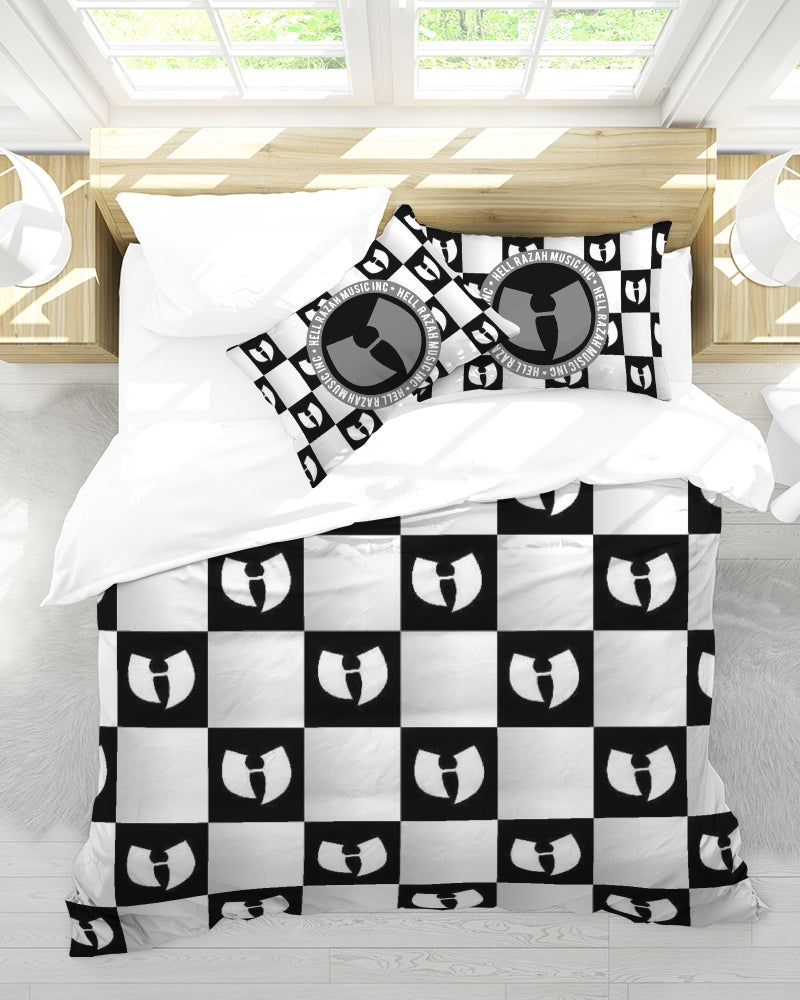 Renaissance Apparel Razah Chessboard Queen Duvet Cover Set