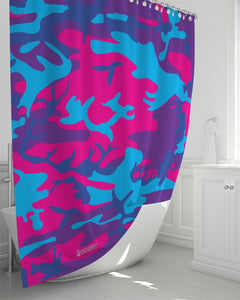 "Limited Edition Grape Camouflage Shower Curtain 72""x72"""