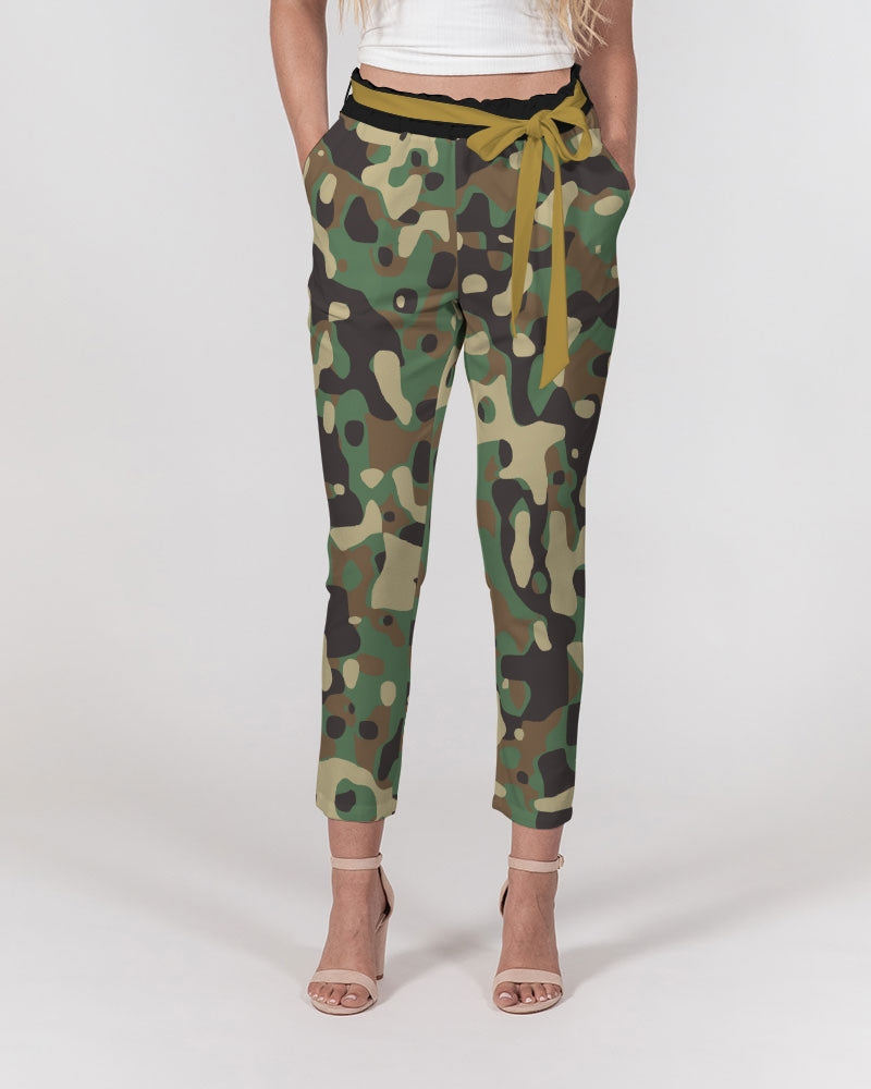 Razah Renaissance Camo Women's Belted Tapered Pants