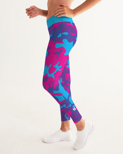 Limited Edition Grape Camouflage Women's Yoga Pants