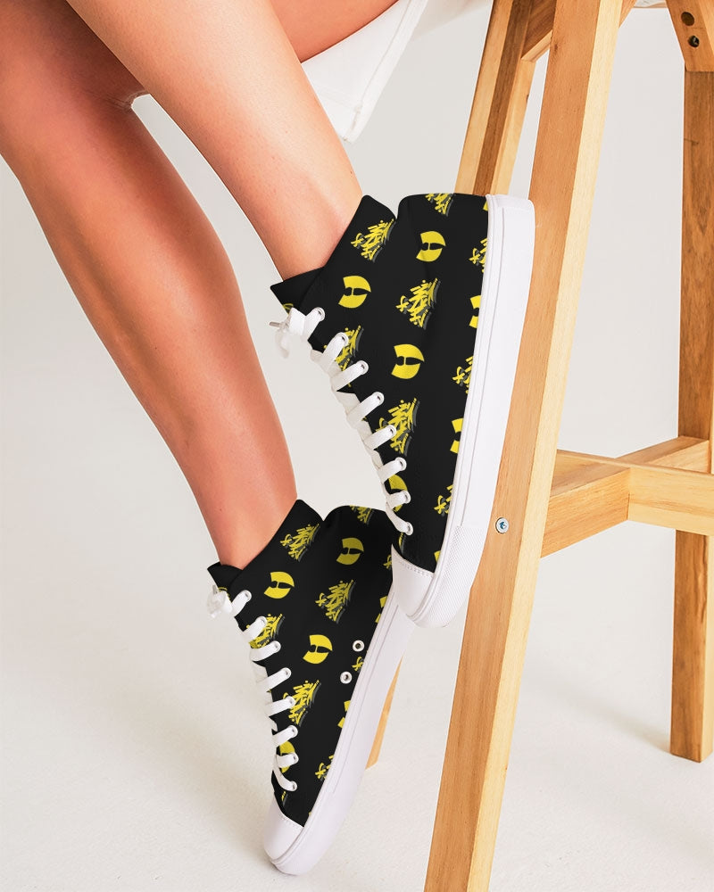 HRMI HellRazah Music Inc. Yellow Tag Style Women's Hightop Canvas Shoe