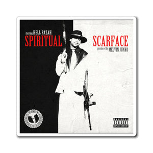 Spiritual Scarface Cover Art - Official HellRazah Music Inc. Collectible Album Magnet