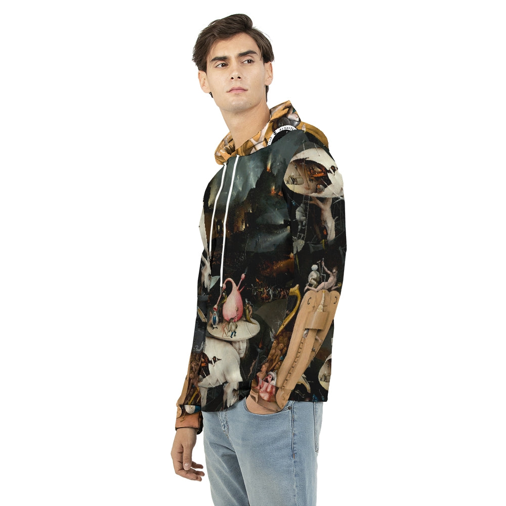 Renaissance Apparel Heavens Underworld Jumpsuit Top - Hooded Jacket Men's Hoodie