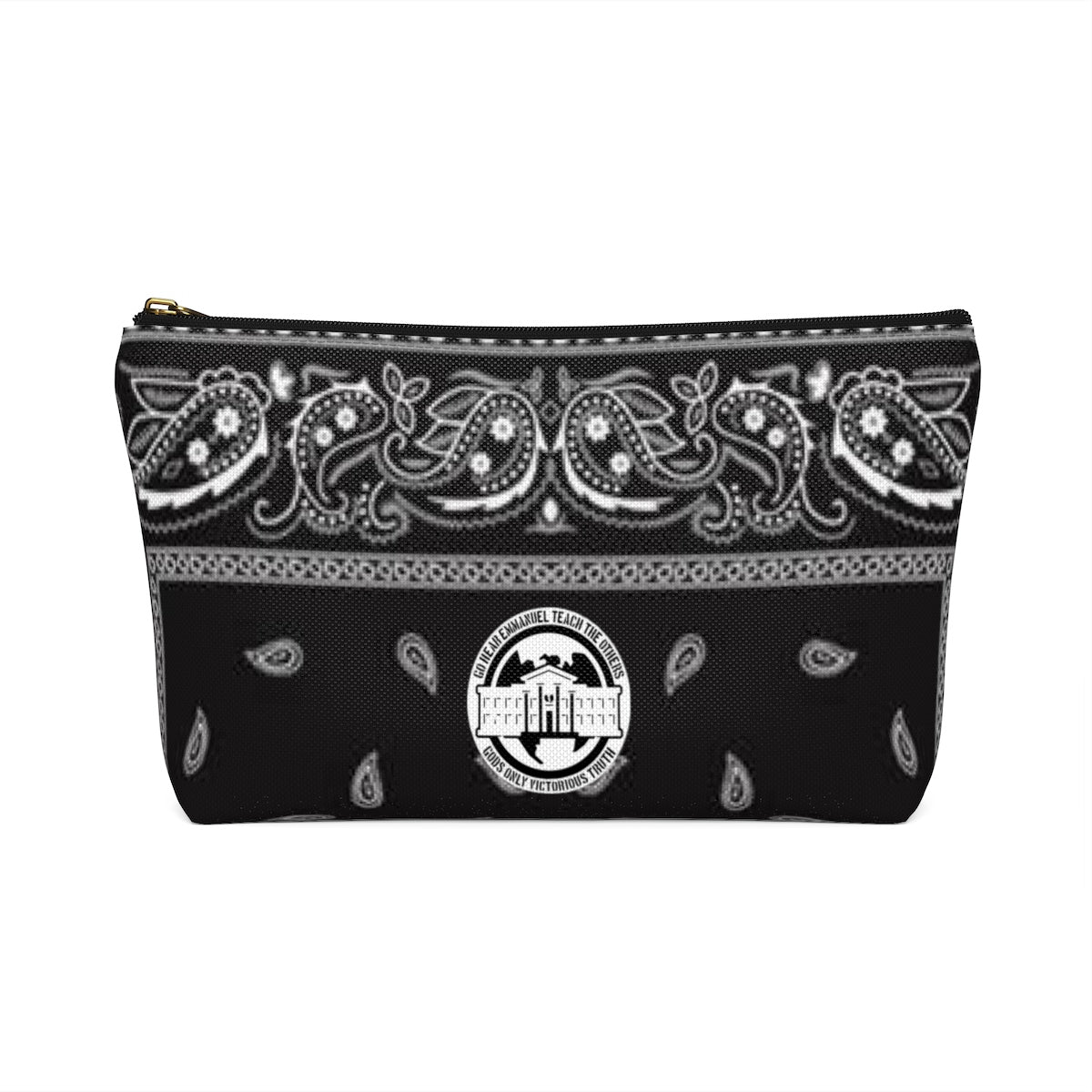 Ghetto Gov't Officialz Blanck Bandana Logo Designer Cosmetic Bag - Accessory Pouch w T-bottom HeavenRazah - HellRazah Merchandise