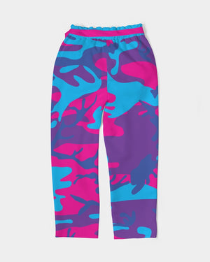 Limited Edition Grape Camouflage Women's Belted Tapered Pants