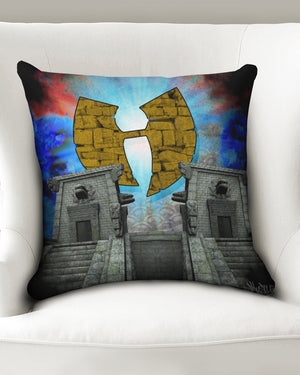 "Renaissance Temple Throw Pillow Case 18""x18"""