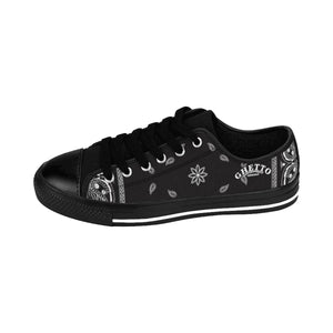 Ghetto Gov't Officialz Black Bandana Logo Heaven Razah Low Top Shoes Designer Men's Sneakers Hell Razah