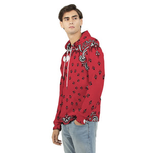 HRMI Red Bandana Logo Designers Men's Hoodie HellRazah Music Inc - HeavenRazah Merch
