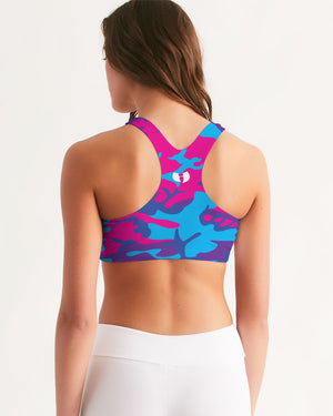 Limited Edition Grape Camouflage Women's Seamless Sports Bra
