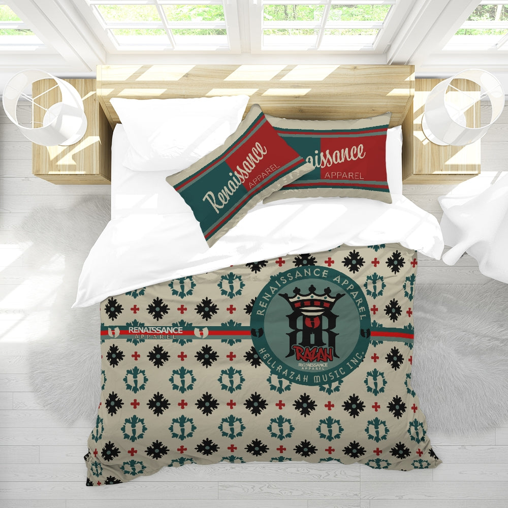 Razah Renaissance Apparel Executive Signature Design Bedwear Queen Duvet Cover Set