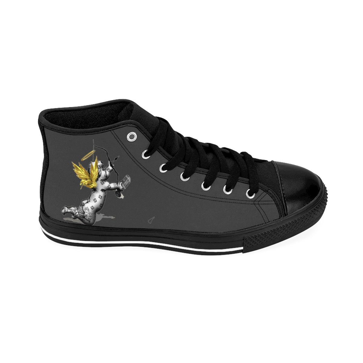 Official HellRazah Music Inc. Seraphim Cherub Men's High-top Sneakers HeavenRazah Merch Graphics by SmuveMassBeatz